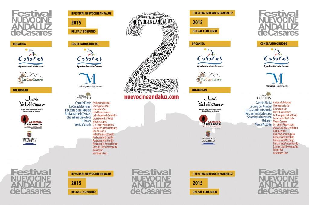 Patrocinadores II edición Festival Nuevo Cine Andaluz 2015