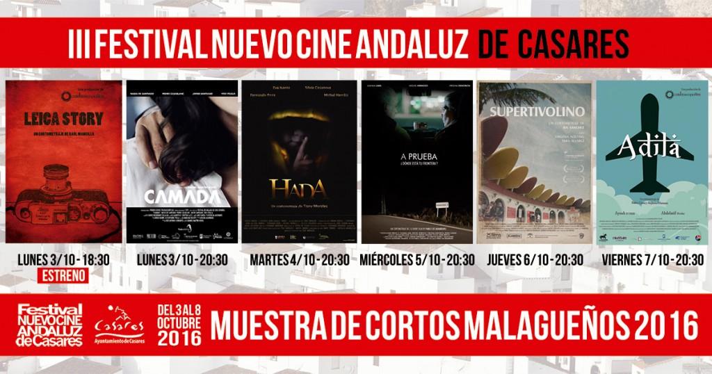 Muestra de cortos malagueños - Festival Nuevo Cine Andaluz de Casares - 2016