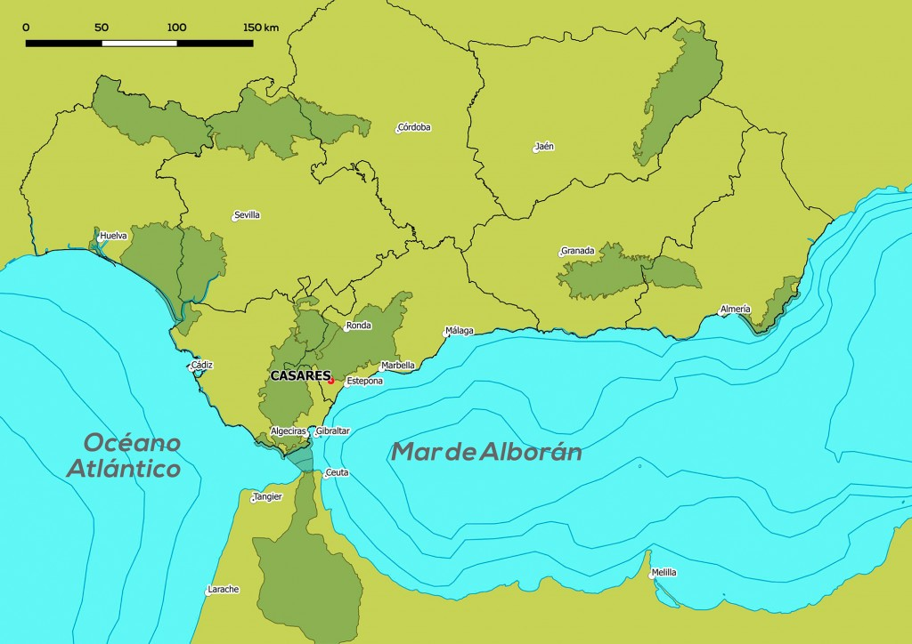 Mapa de situación de Casares