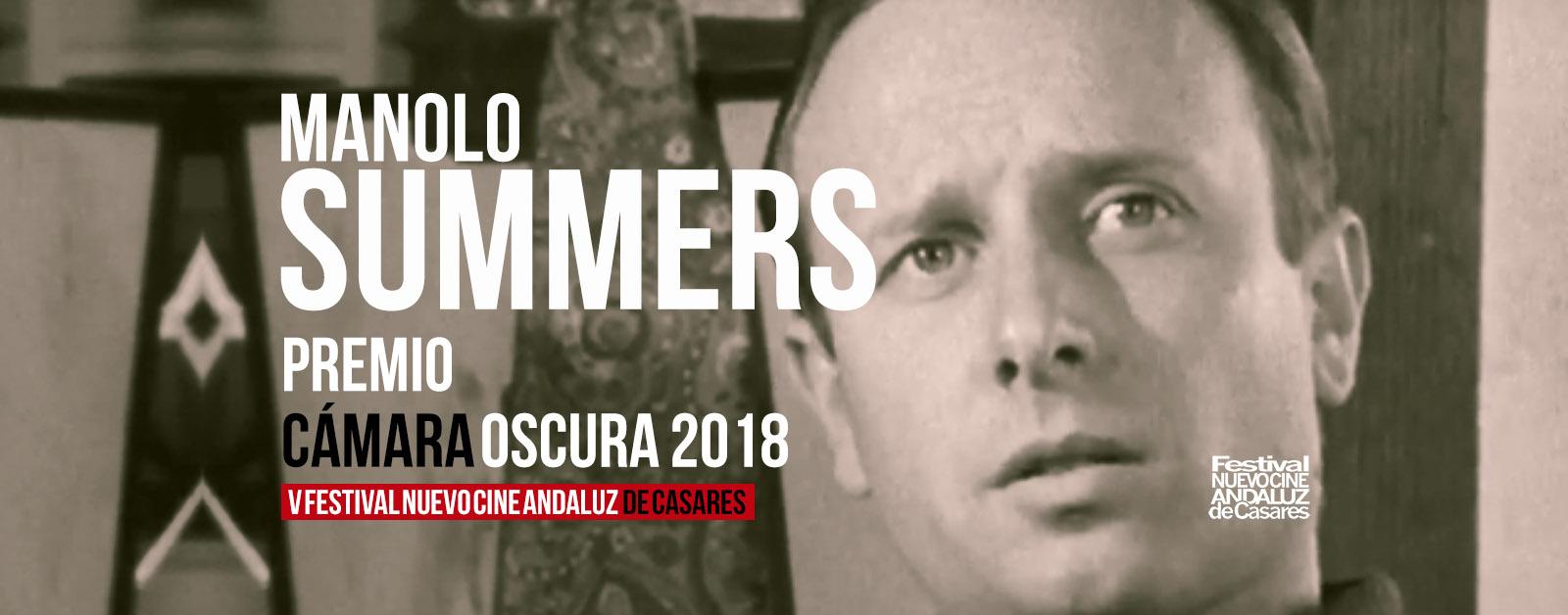 Manolo Summers, premio Cámara Oscura 2018