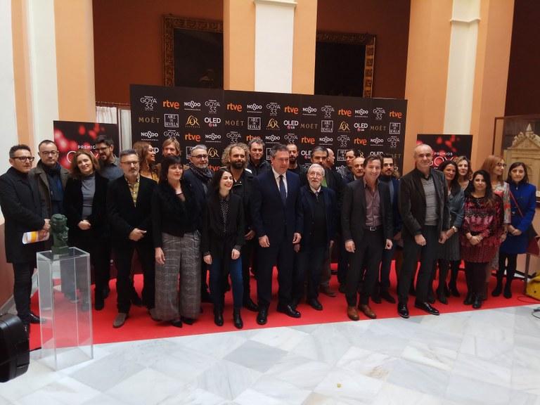 El ayto de Sevilla entrega un Giraldillo a los nominados en los Goya 2019