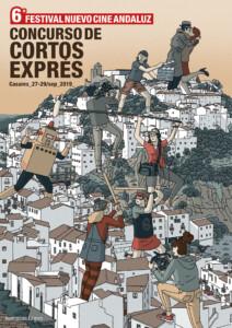 VI Concurso Cortos Exprés Nuevo Cine Andaluz (Casares, 2019). Ilustración: Edmon