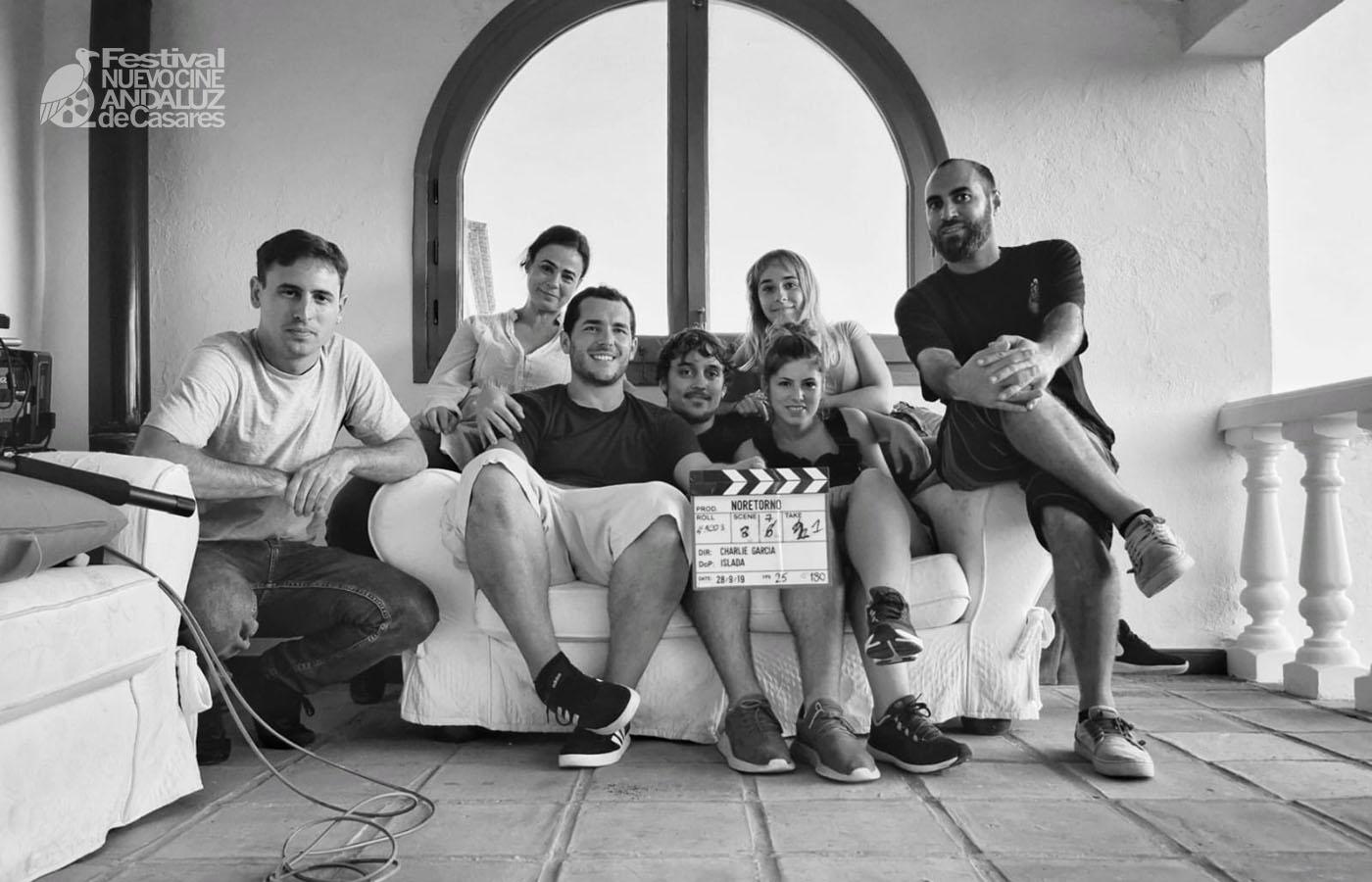 """Equipo del cortometraje """"Noretorno"""", ganador del segundo premio del Jurado del concurso Cortos Exprés Nuevo Cine Andaluz 2019"""