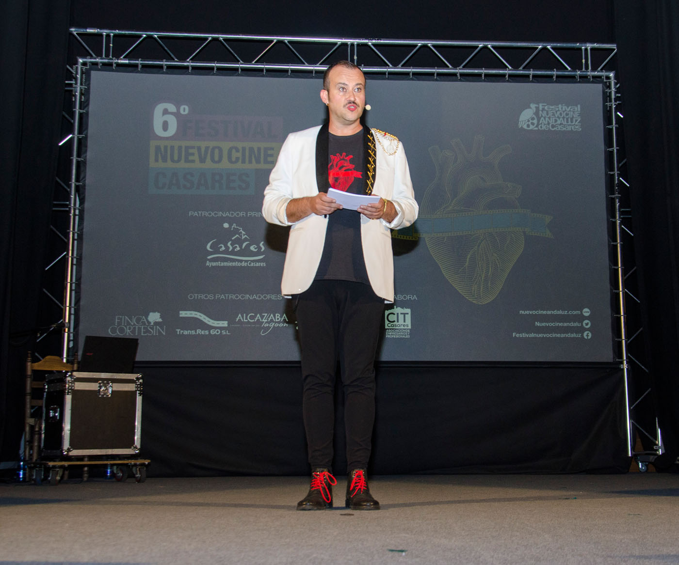 Jose Pérez presenta la Gala de clausura del VI Festival Nuevo Cine Andaluz