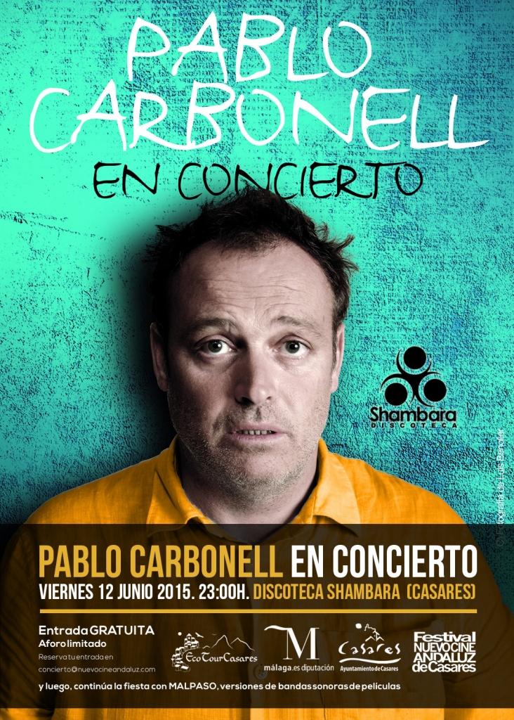 Pablo Carbonell, en concierto en Casares. Entrada gratuita. Viernes, 12 de junio de 2015