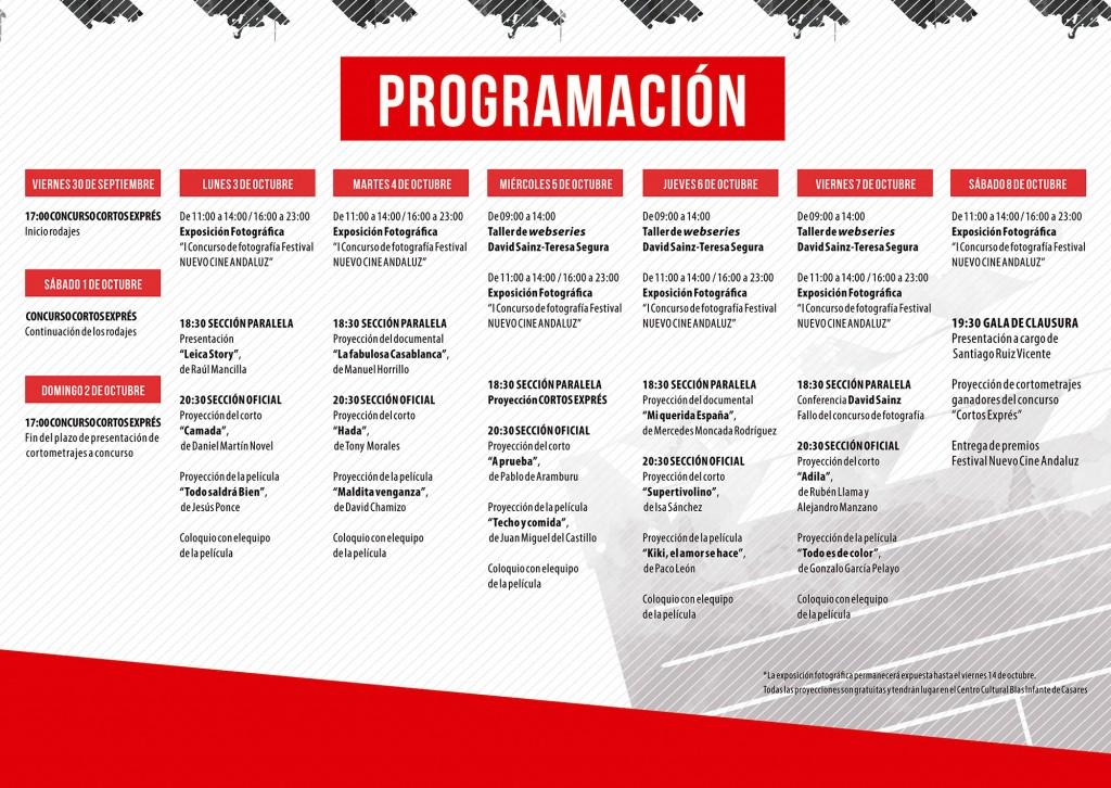Programa de mano - III Festival Nuevo Cine Andaluz - 2016