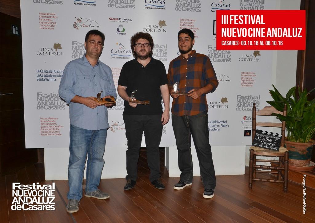 Premiados en la categoría de largometrajes en la III edición del Festival Nuevo Cine Andaluz