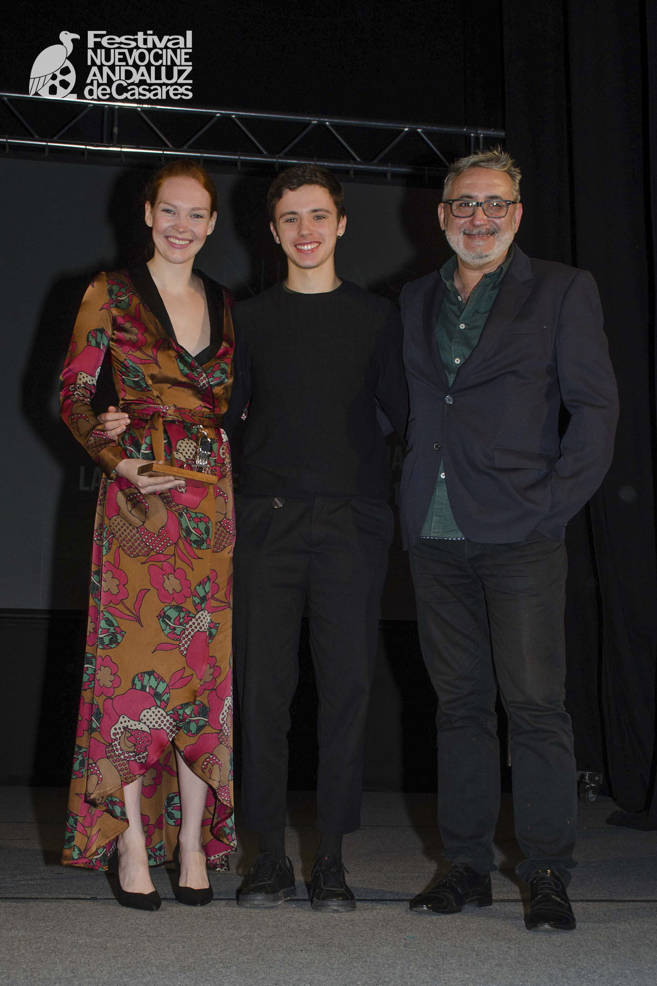 Clare Durant, Iván Pellicer y Javier Paisano