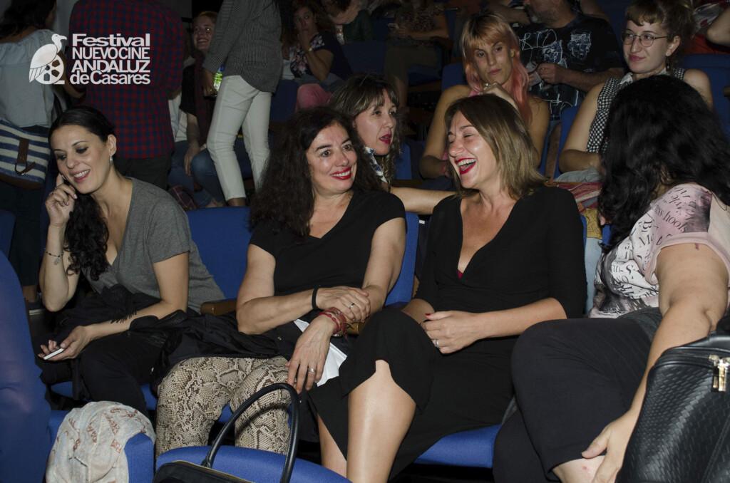 Farah Hamed, Chus Gutiérrez y Tusti de las Heras en 2018
