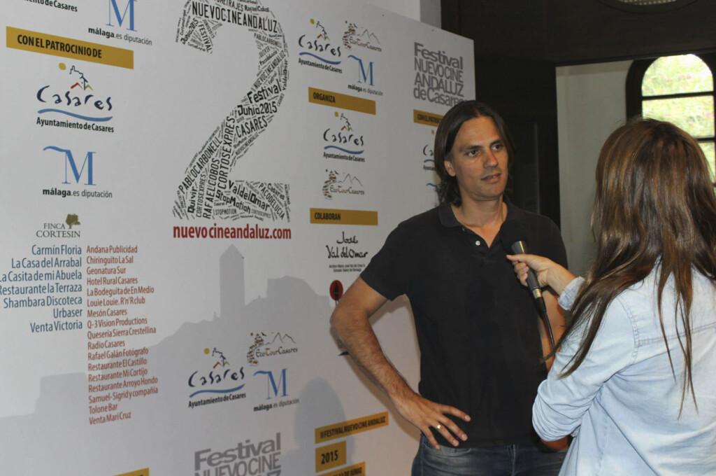 """El guionista Rafael Cobos, que recibió el premio Goya en 2015 al mejor guion original por """"La isla mínima"""", y al mejor guion adaptado en 2017 por """"El hombre de las mil caras"""", impartió el Taller de Guion en la edición de 2015 del Festival Nuevo Cine Andaluz"""