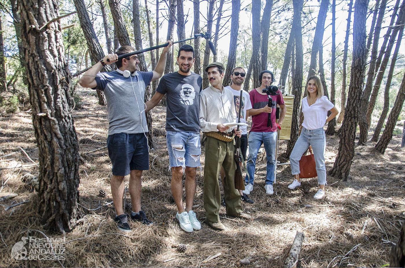 """Equipo del cortometraje """"The Young Paco"""", ganador del primer premio del Jurado del concurso Cortos Exprés Nuevo Cine Andaluz 2019"""