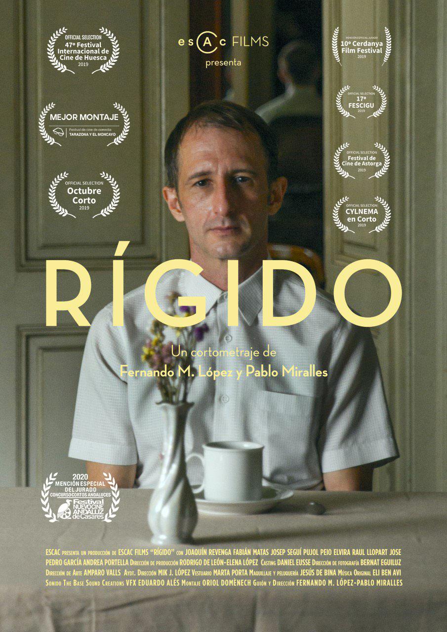 Rígido, de Fernando M. López y Pablo Miralles. Accésit Concurso Cortos Exprés Nuevo Cine Andaluz 2020